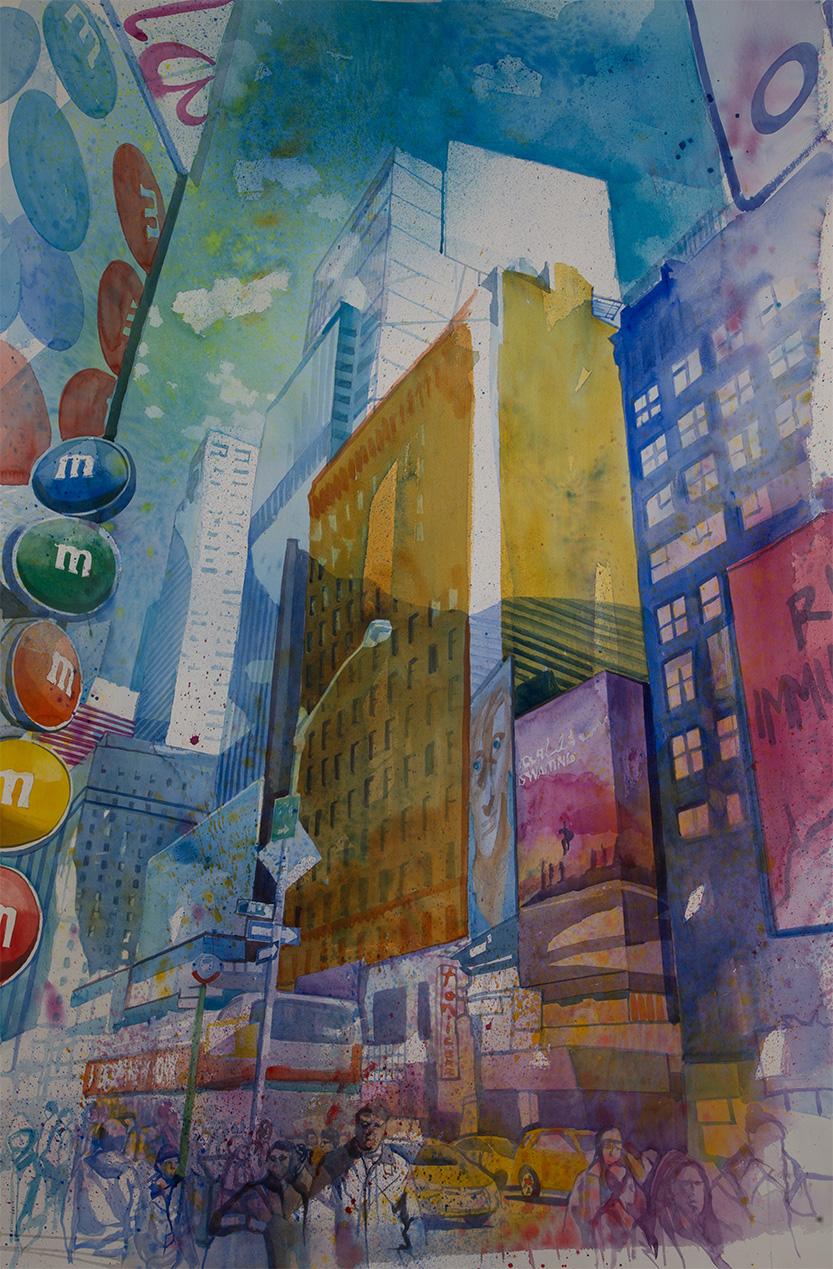 Acuarela Nueva York 10