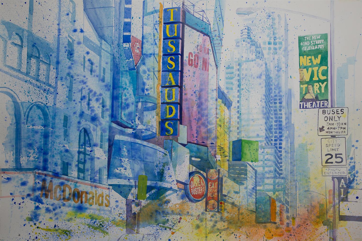 Acuarela Nueva York 11